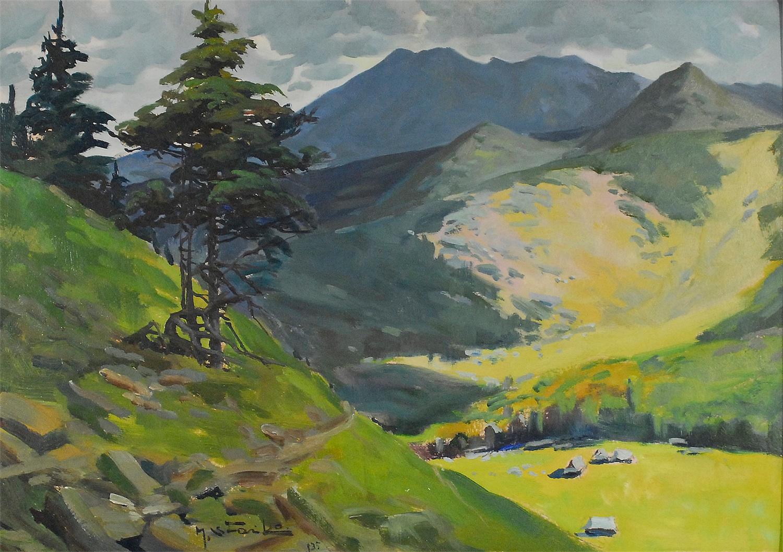Pejzaż tatrzański z sosnami, 1935