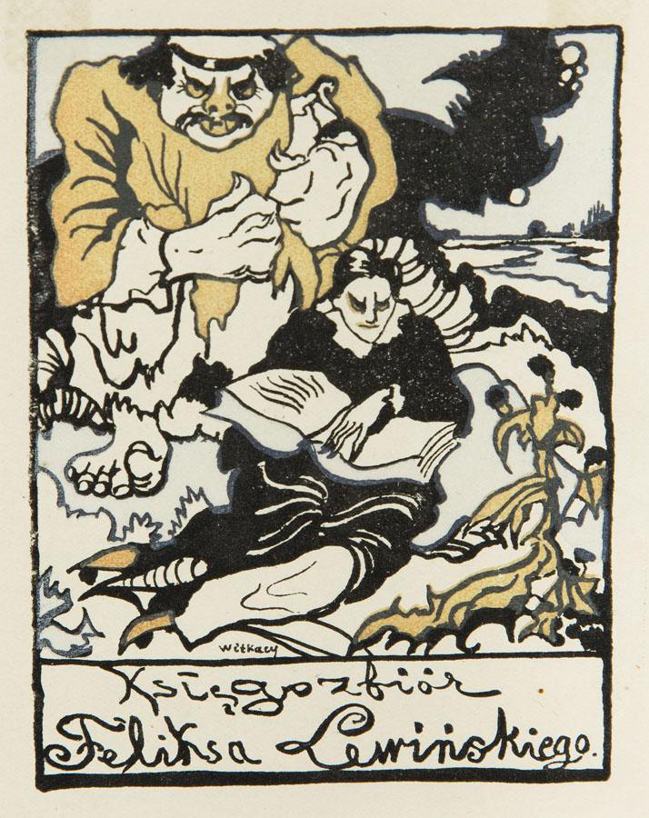 Ex libris Feliksa Lewińskiego, około 1917 r.