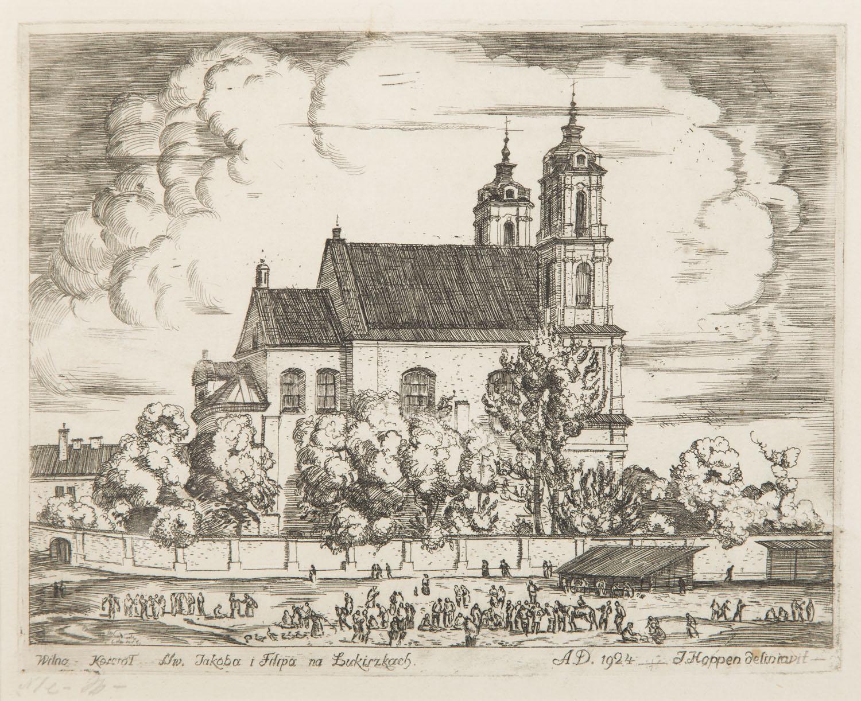 Wilno - Kościół św. Jakuba i Filipa w Łukiszkach, 1924 r.
