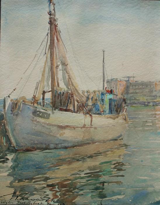 Port rybacki w Gdyni (1947)