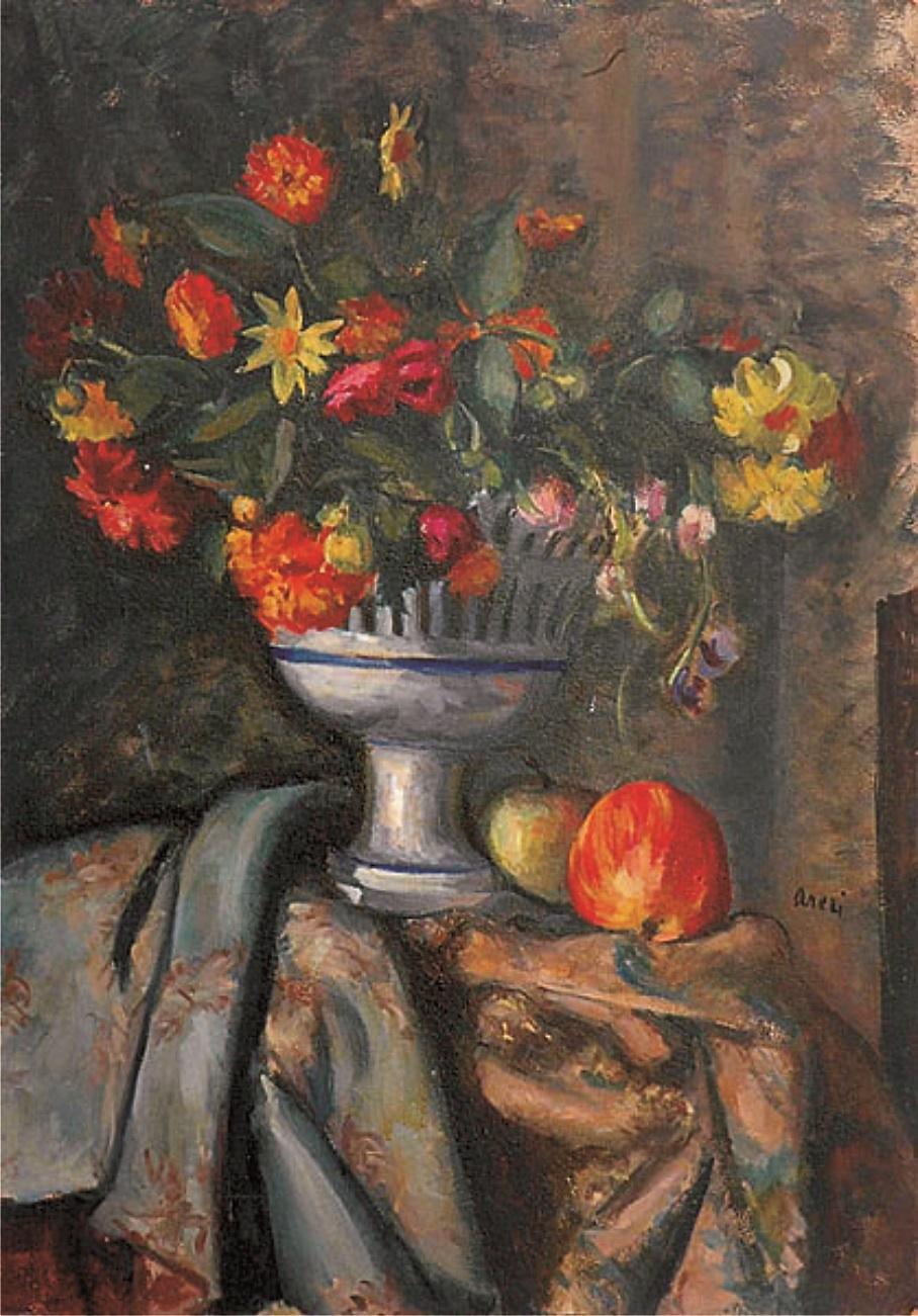 Martwa natura z kwiatami i jabłkami, ok. 1919