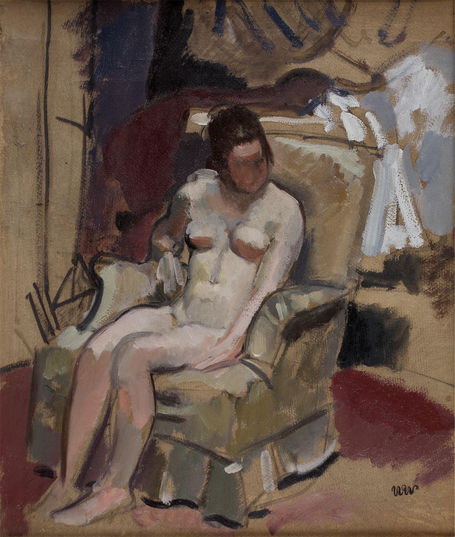 Modelka w fotelu, ok. 1925
