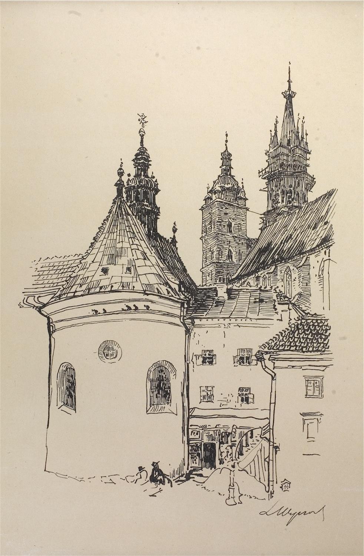Widok z Małego Rynku w Krakowie, 1915