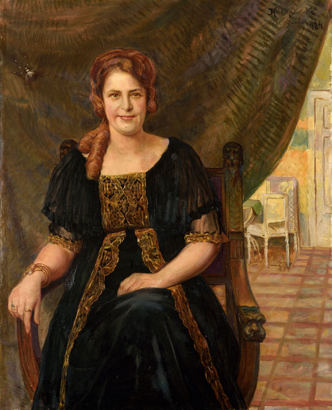 PORTRET PANI RETTINGER, 1924