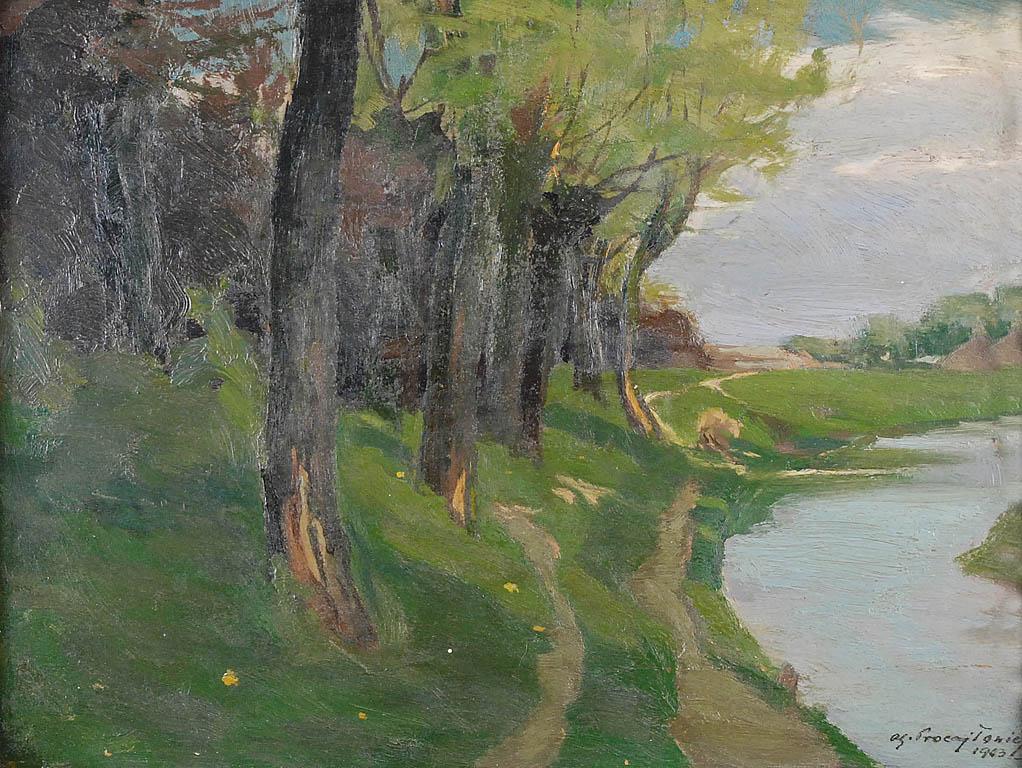 Pejzaż z rzeczką, 1903