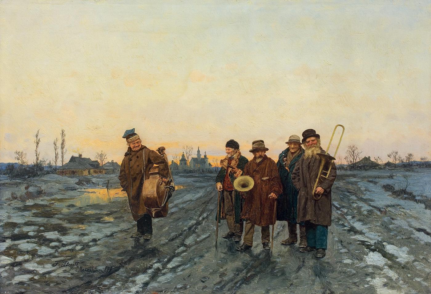 WĘDROWNI MUZYKANCI, 1879