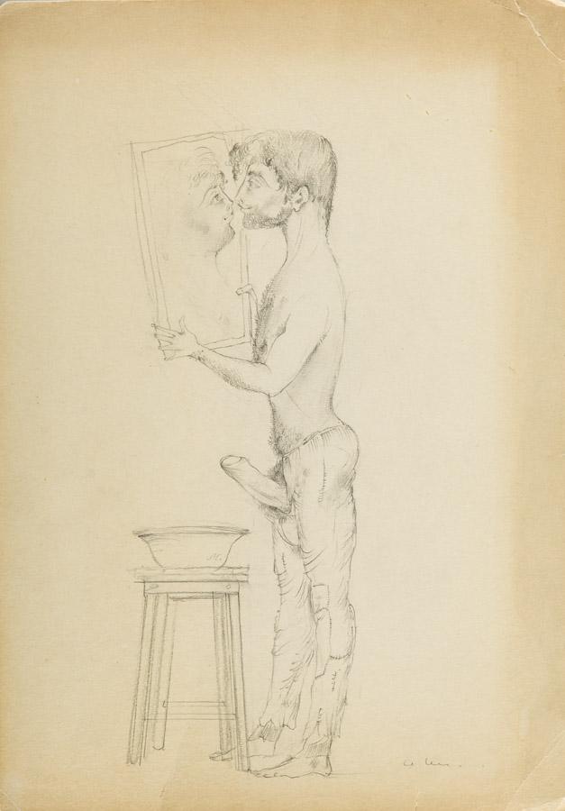 Mężczyzna z lustrem