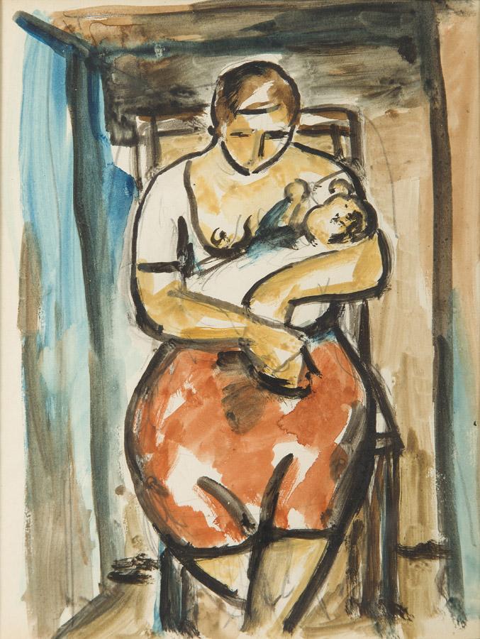 Kobieta karmiąca, 1942-1943 r.