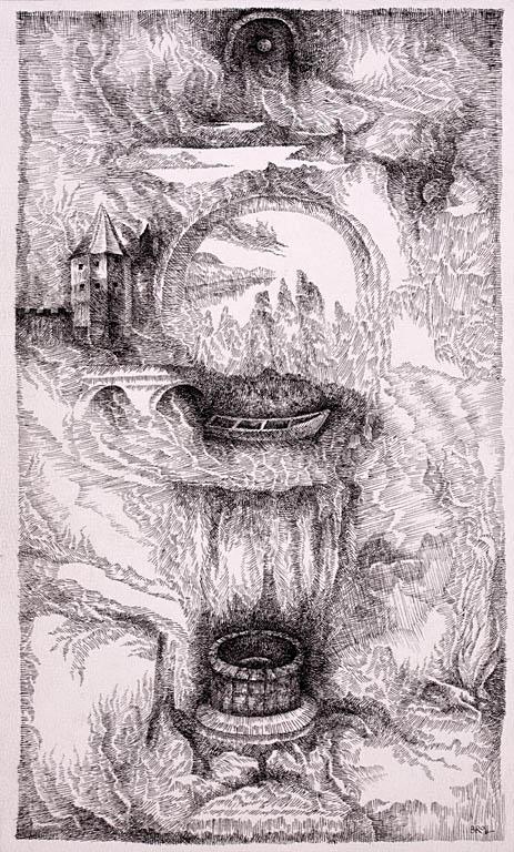 Pejzaż surrealistyczny ze studnią, l. 90.