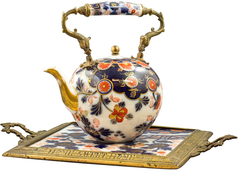 Czajniczek z tacką w typie orientalnym