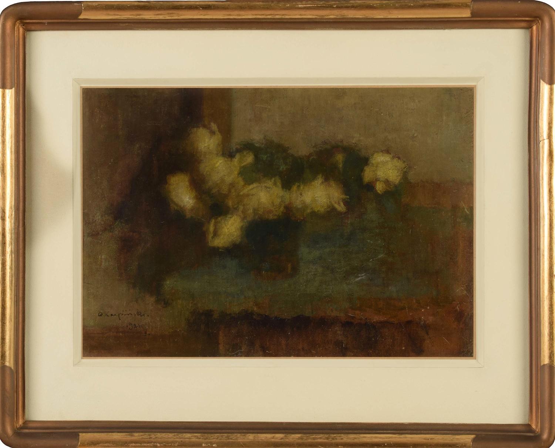 Żółte róże o zmroku, 1921