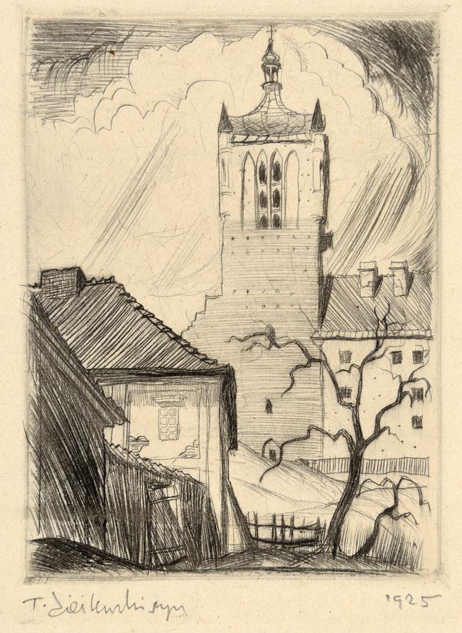 FRAGMENT PŁOCKA (WIEŻA I), 1925