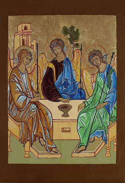 Ikona napisana na podstawie Trójcy Świętej A.Rublowa, 2010 r.