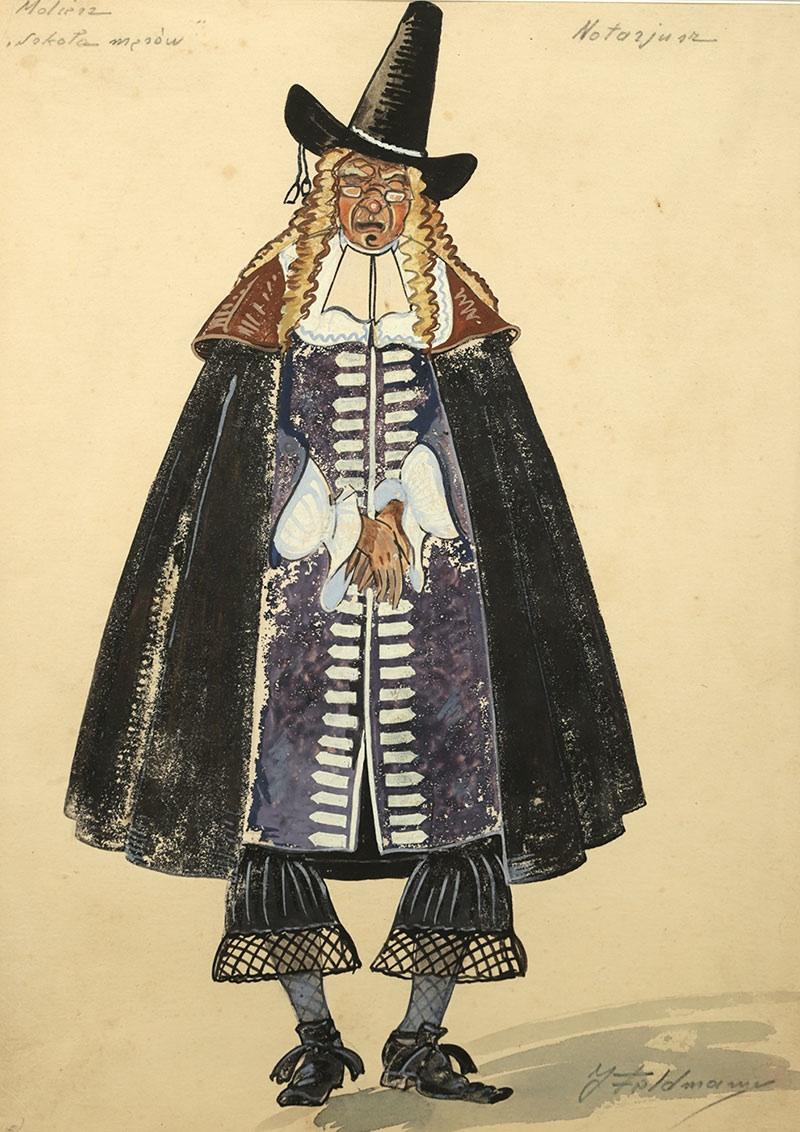 Notariusz- projekt kostiumu do Szkoły mężów Moliera