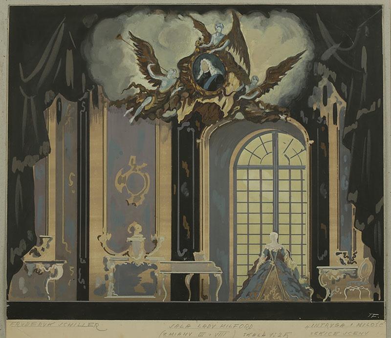 Sala lady Milford-projekt scenografii do Intrygi i miłości  F.Schillera
