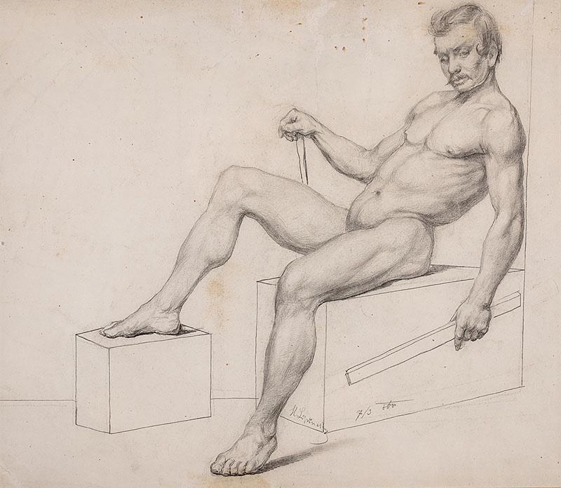 Akt męski, 1868 r.