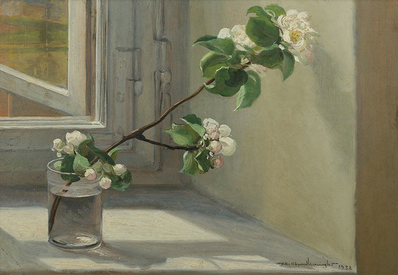Kwitnąca gałązka jabłoni, 1932 r.