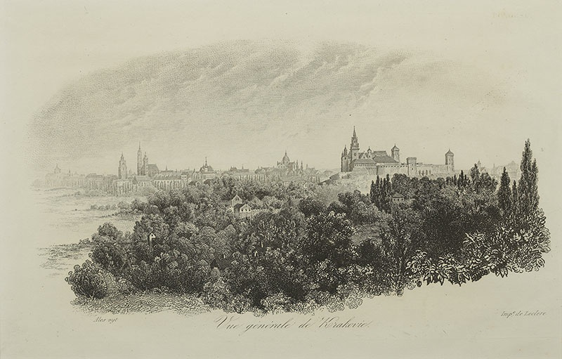Panorama Krakowa, ok. 1835 r.