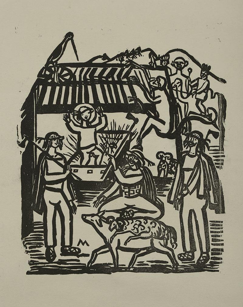 Górale w stajence, 1925 r.