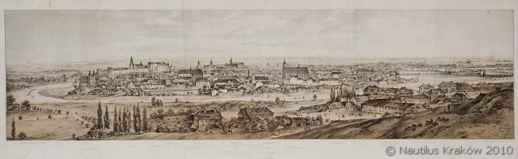 Widok Krakowa od Podgórza, 1860