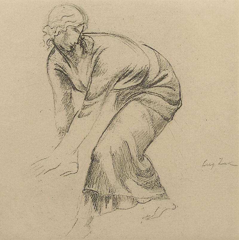 Pochylona kobieta, 1929 r.
