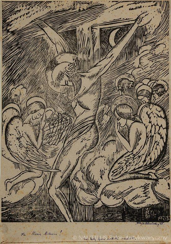 Ukrzyżowany adorowany przez anioły, 1923