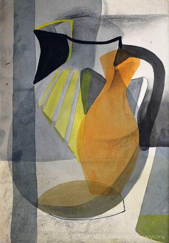 Martwa natura z wazonami (szkic do obrazu), 1952