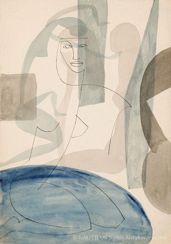 Akt nad wodą, 1956