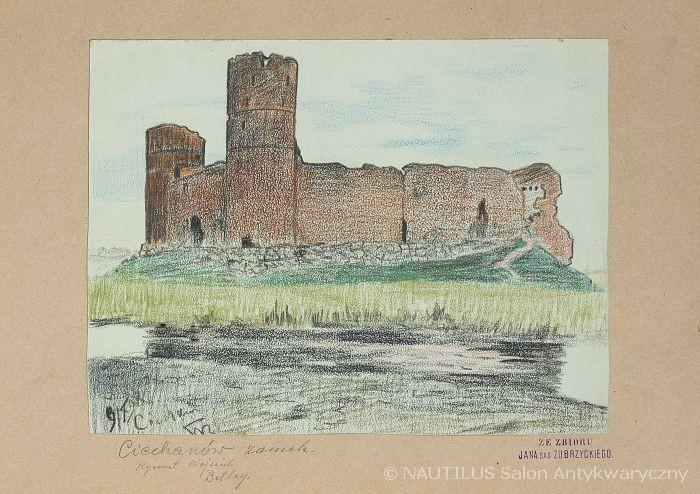 Ruiny zamku w Ciechanowie, 1908