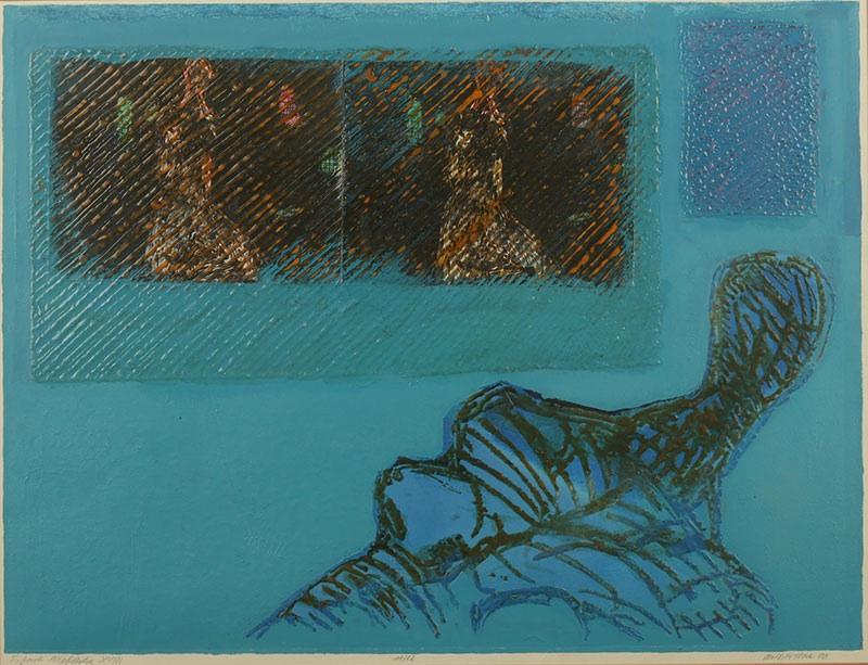 Figura niebieska XVIII, 1980 r.