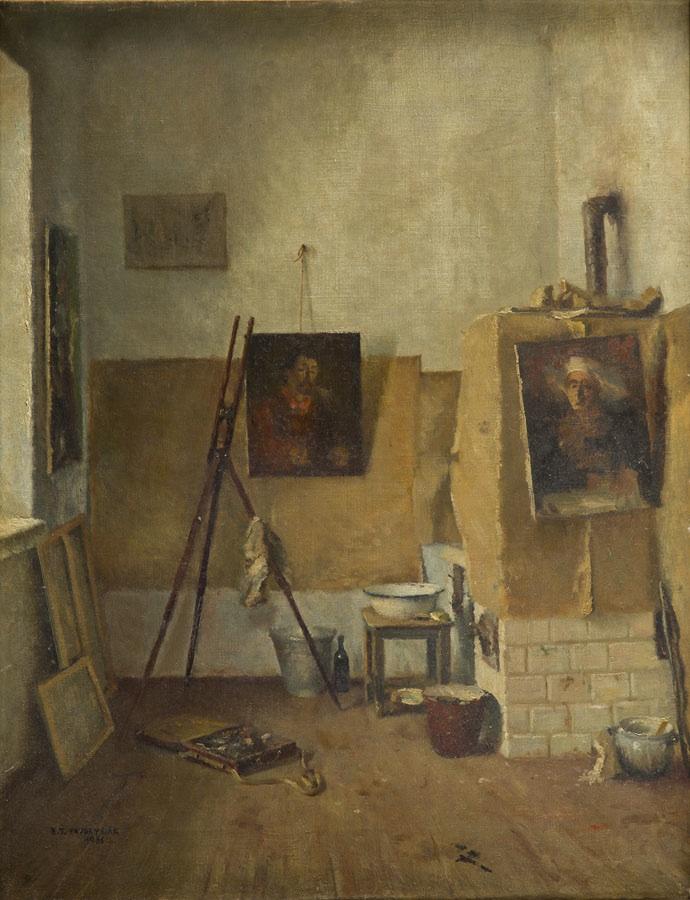 Wnętrze pracowni, 1936 r.