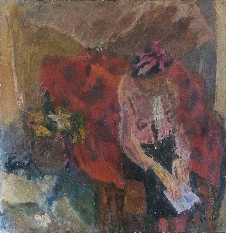 Portret kobiety we wnętrzu