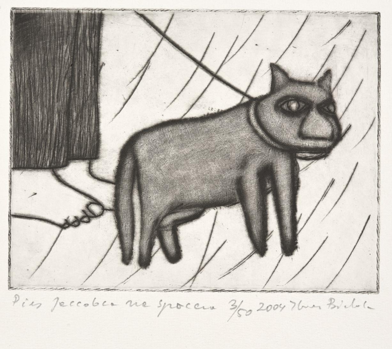 Pies Jaccobca na spacerze, 2004 r.