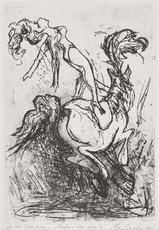 Tancerka na koniu, z cyklu Cyrk, 2005 r.