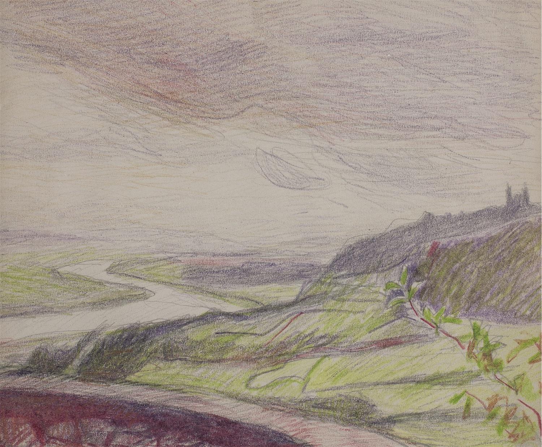 Widok na Bielany podkrakowskie, ok. 1910