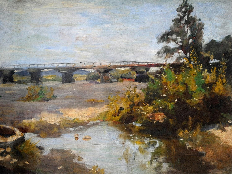 Most na Skawie koło Zatora, ok. 1900