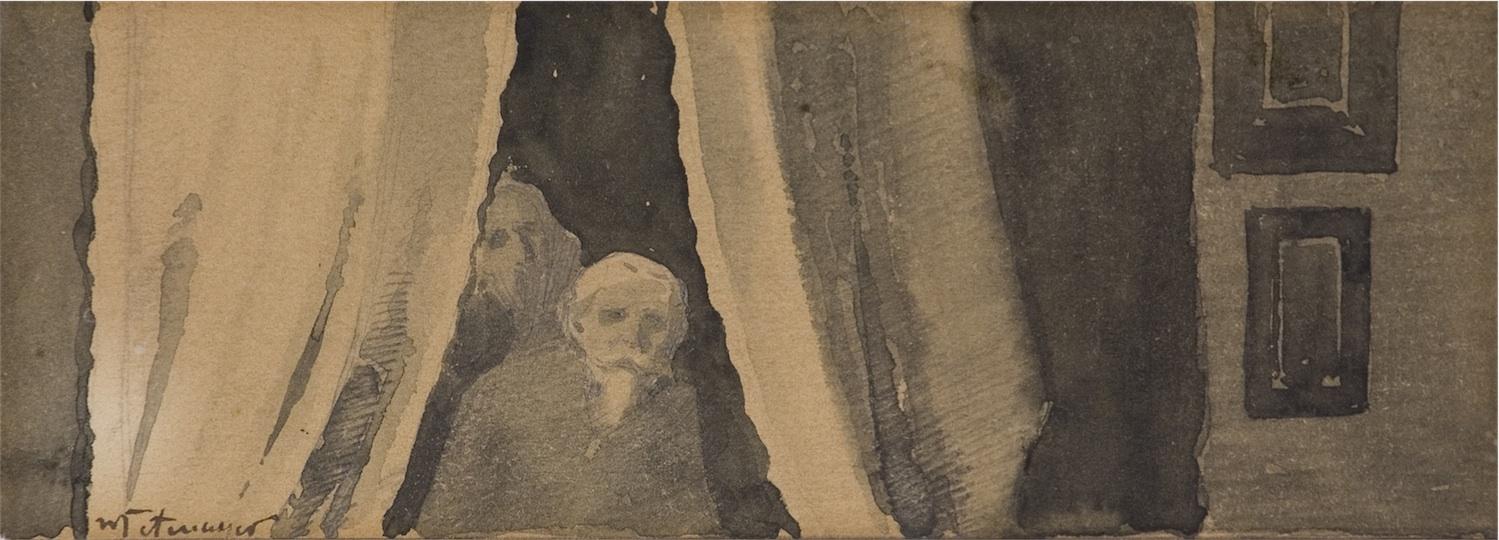 Scena we wnętrzu - portret ojca artysty