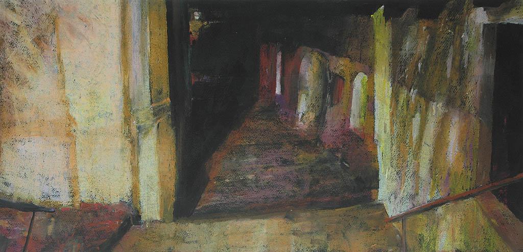 Zejście nocą przy św. Annie w Kazimierzu