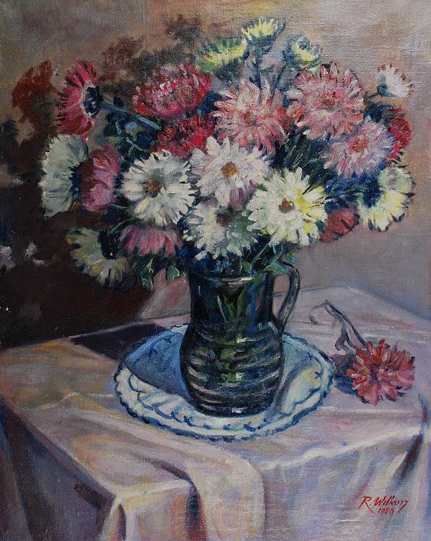 Kwiaty w wazonie, 1956