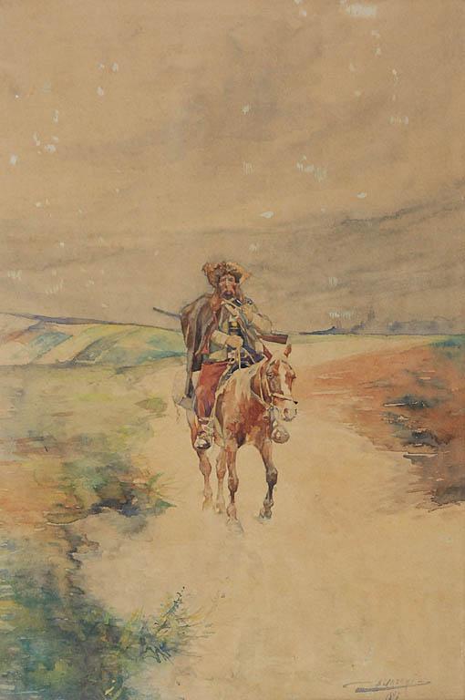 Hucuł na koniu, 1896