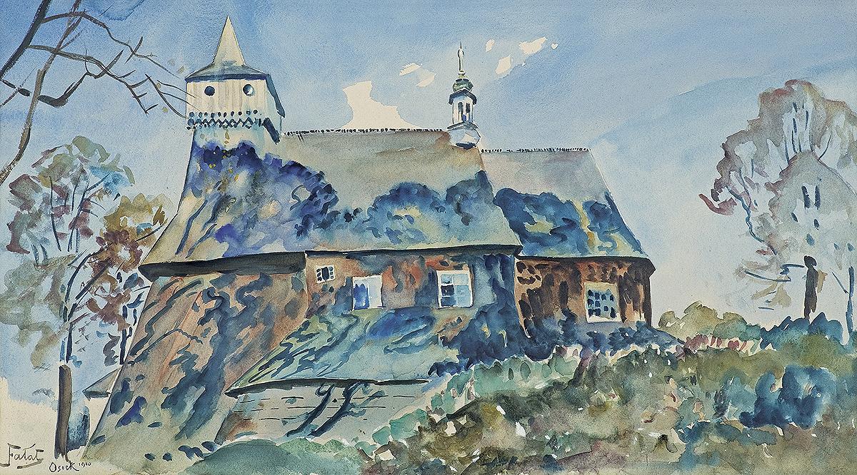 KOŚCIÓŁ W OSIEKU, 1910