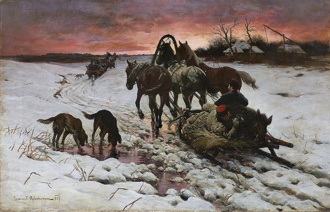 POWRÓT Z POLOWANIA, 1887