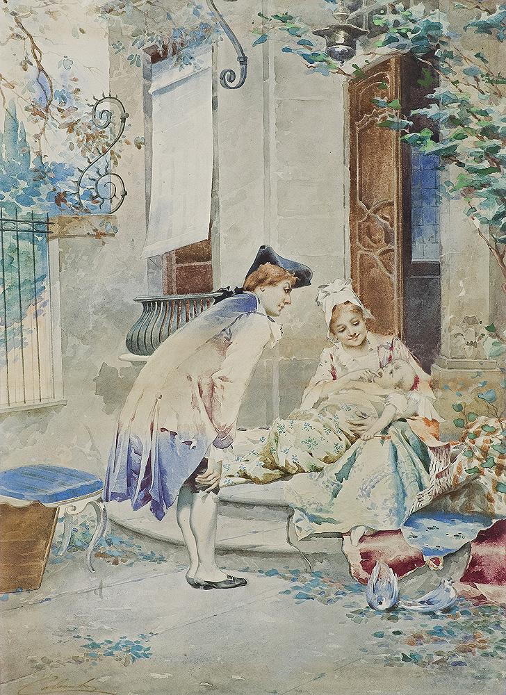 RODZINNE SZCZĘŚCIE, ok. 1890