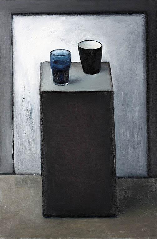 Martwa natura z niebieską szklanką, 2009