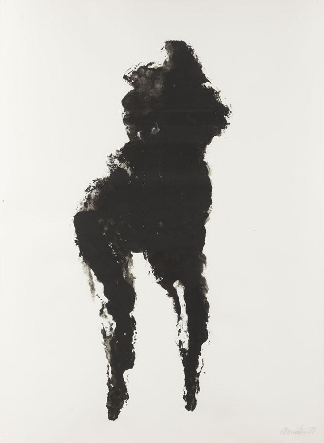 Duża czarna figura, 1997 r.