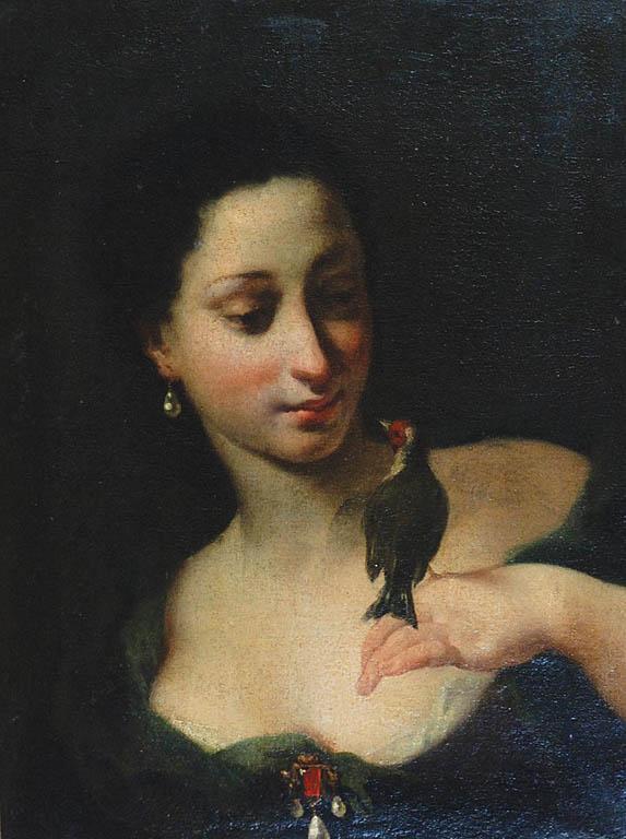 Kobieta z ptaszkiem