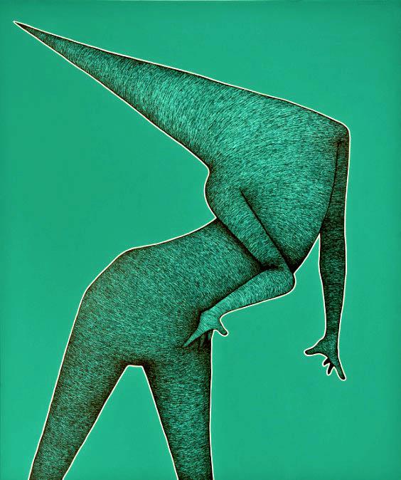 Zielony obraz, 2017r.