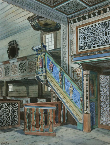 Wnętrze kościoła (1933)