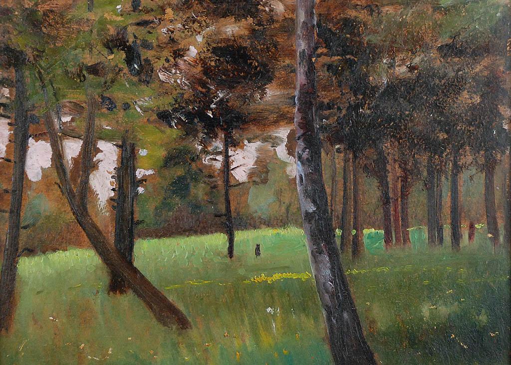 Pejzaż leśny, 1923