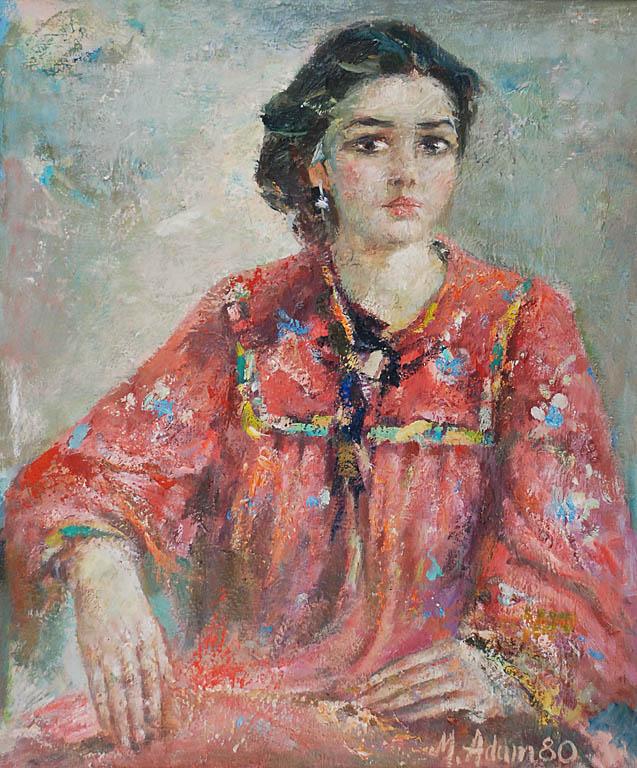 Dziewczyna w czerwieni -portret Joanny